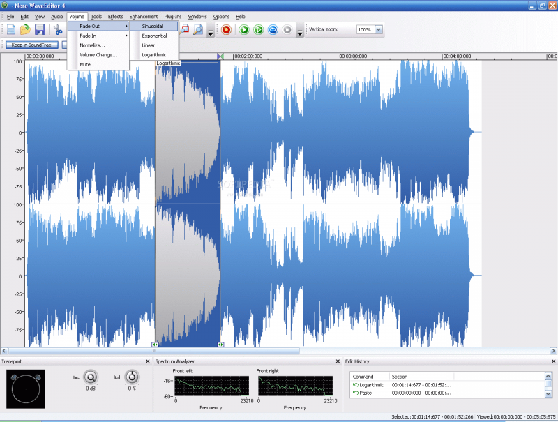 Nero Wave Editor is another awesome free audio editor