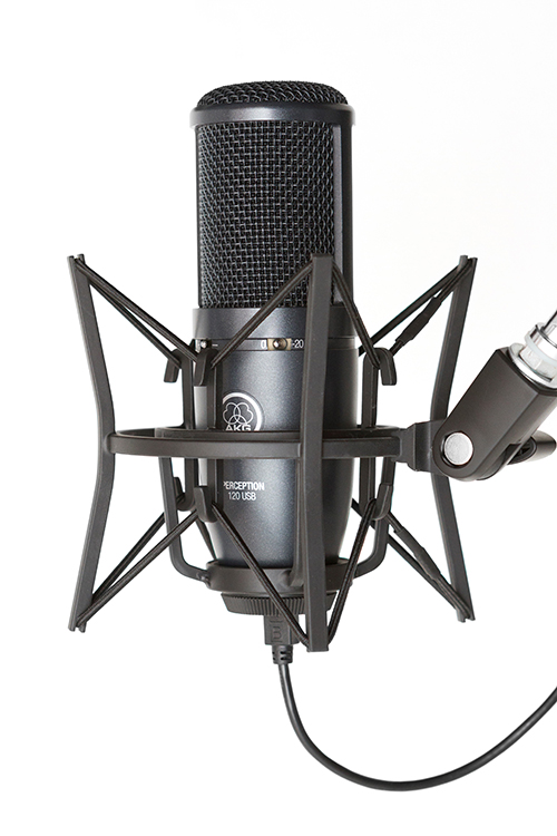AKG_Perception_120_USB_condenser_microphone_with_SH_100_shock_mount