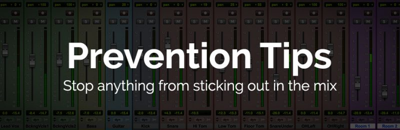 How to prevent an instrument or vocal from sticking out in the mix