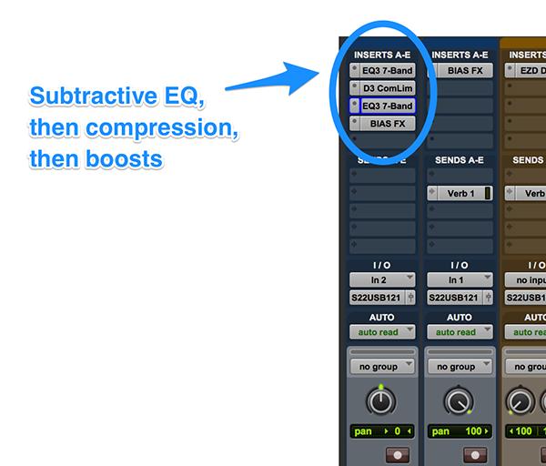 Compressor and EQ Plugin order