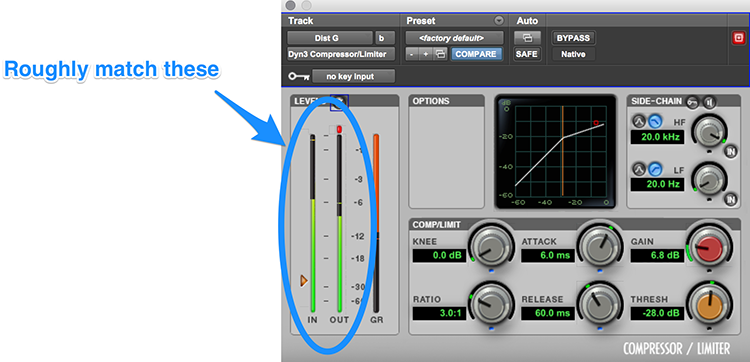 Compressor Gain Matching