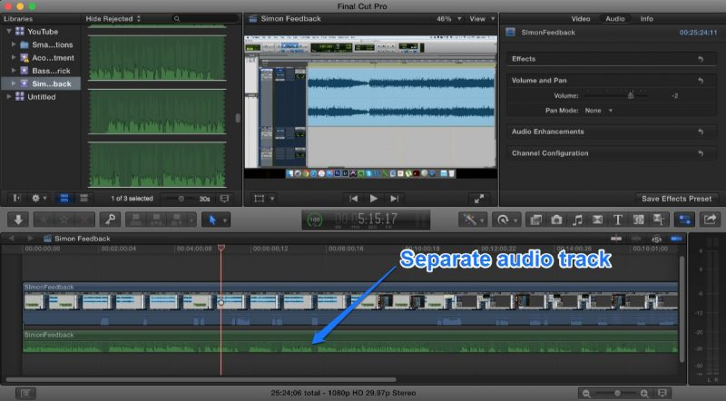 Final Cut Pro Audio Track Sync