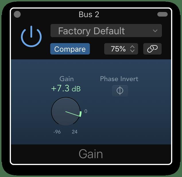 logic pro gain plugin