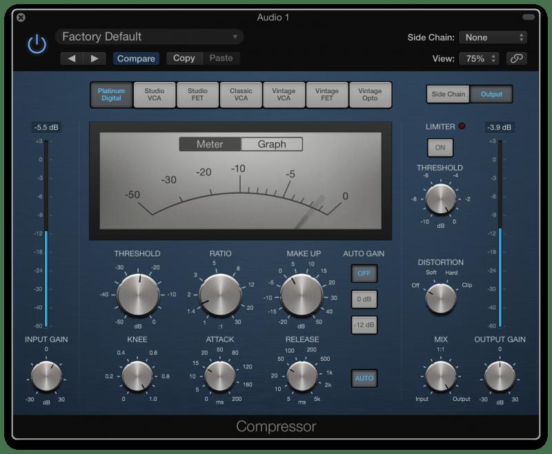Tonal vocal compression in Logic Pro X