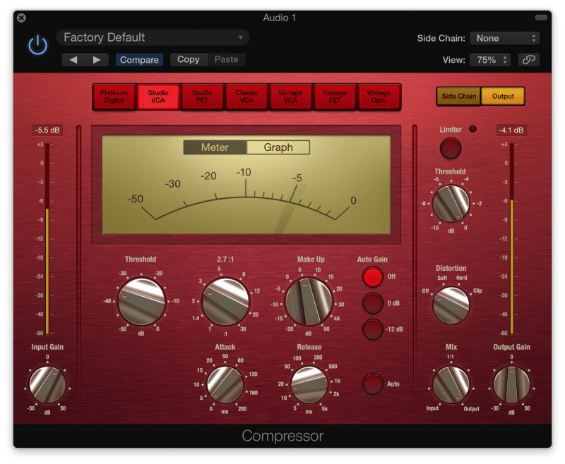 compressor with 5 db of compression