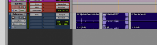 reference track in pro tools