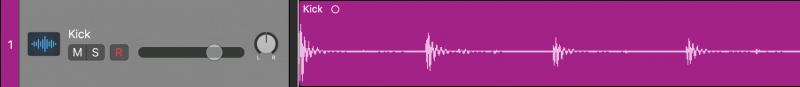 audio track waveform