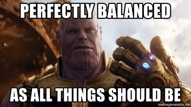 thanos perfectly balanced meme