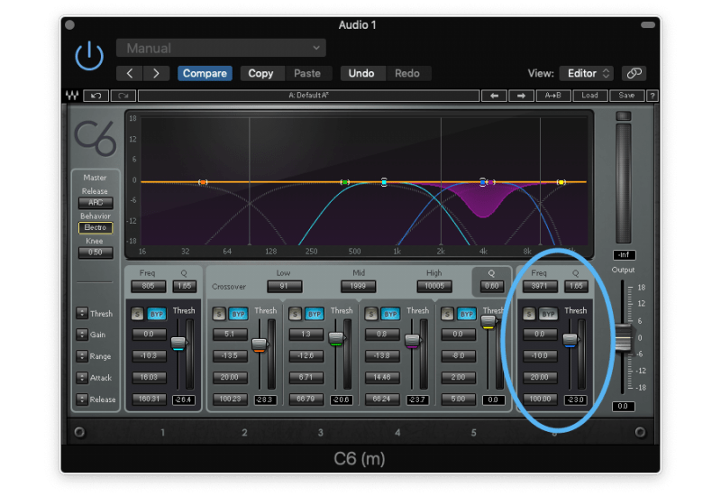 be careful not to apply makeup gain on the multiband compressor