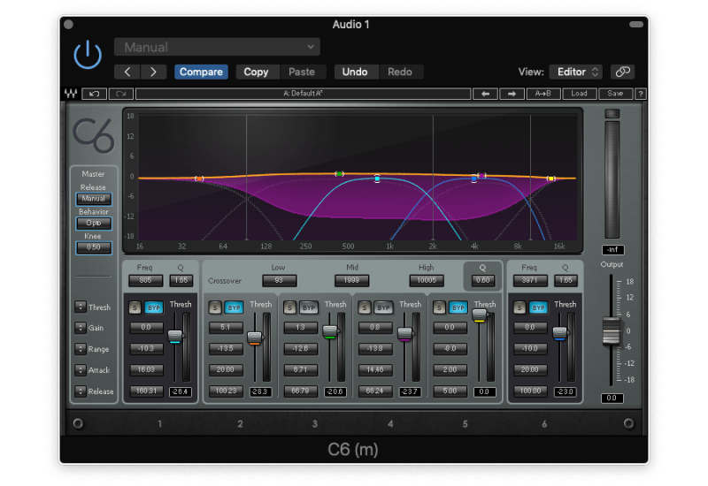 compressing the mid-range with a multiband compressor