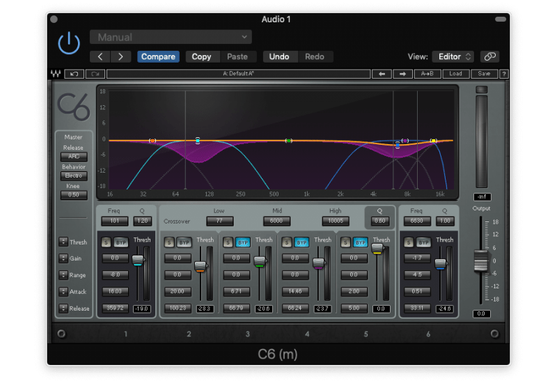 compressing low and high frequencies with multiband compression