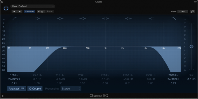 bandpass filter eq
