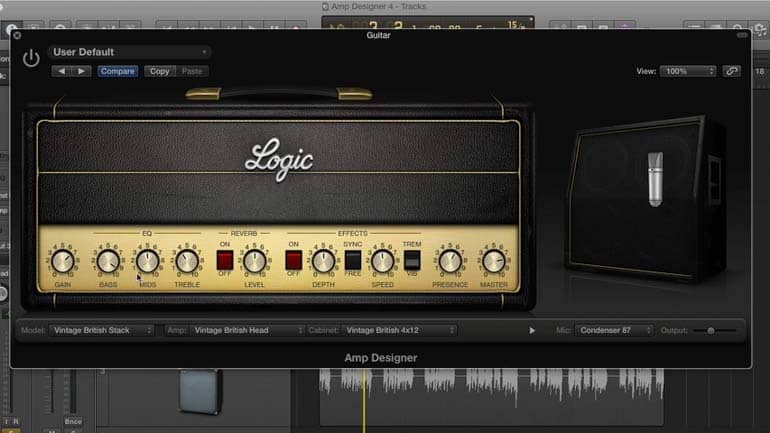 logic pro amp simulator