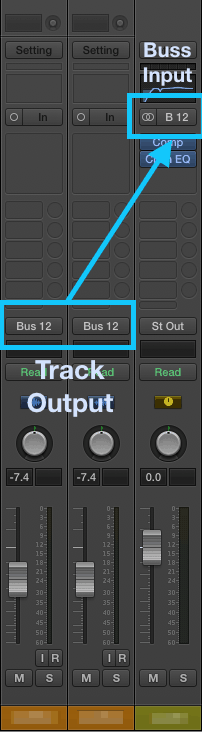 logic pro audio bus