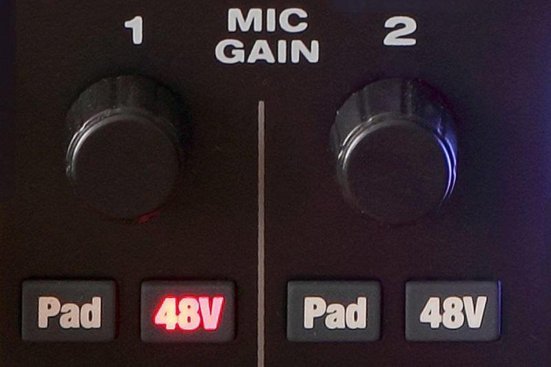 phantom power 48v on an audio interface
