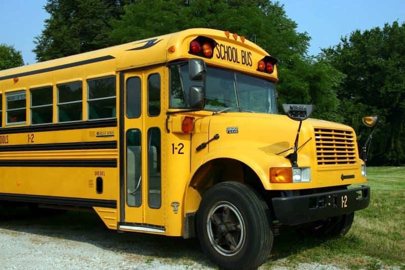 school bus symbolizing mix busses