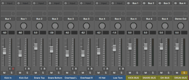 Using volume faders to balance the volume