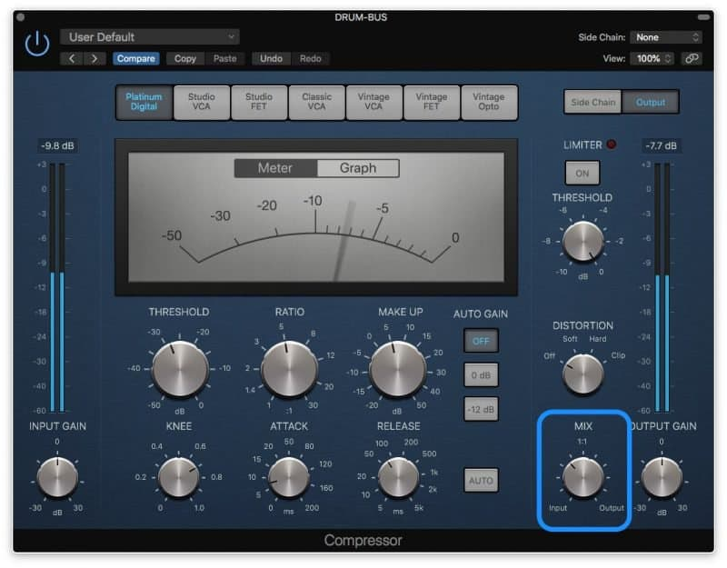 compressor with 8 db of compression