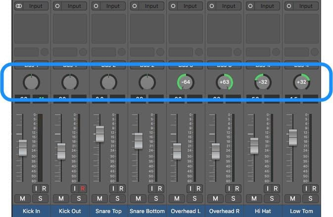 mix view pan knobs