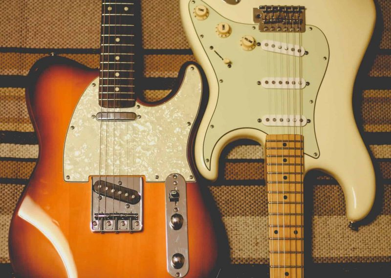 two fender stratocasters