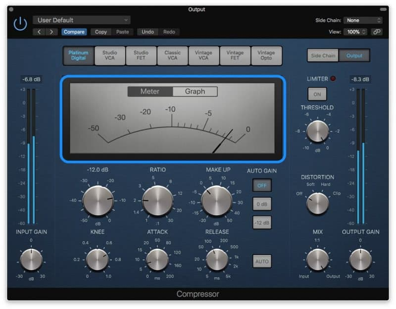 compressor with 1.5 db of compression