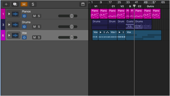 simple song structure in logic pro x