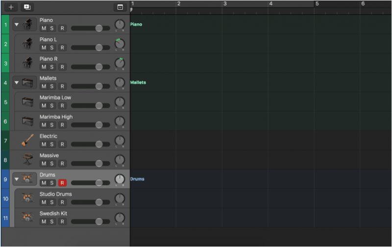 simple logic pro x template for songwriting