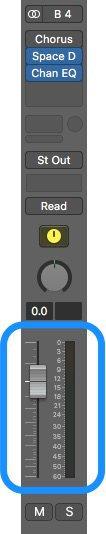logic pro volume fader