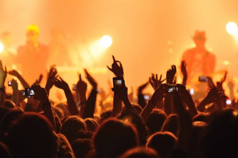 crowd at a live music event
