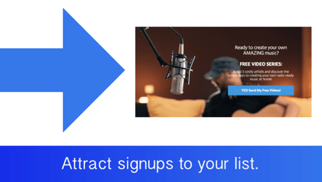 musicians should get people to sign up for their email list