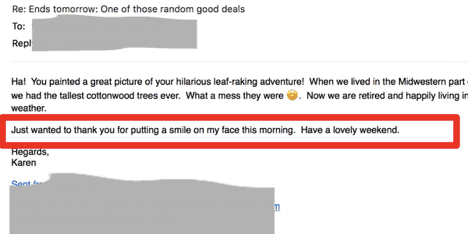 thank you email in response to a sales email