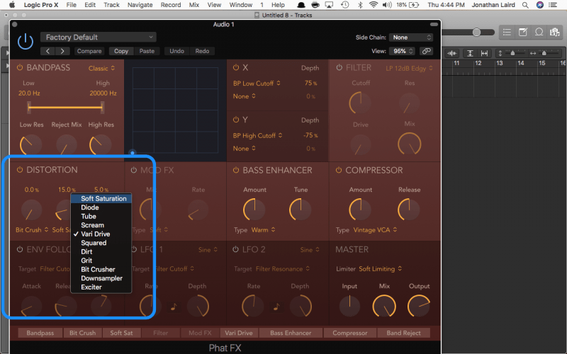 logic pro phat fx saturation