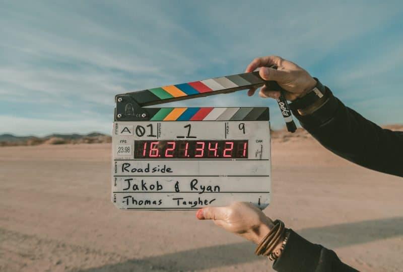 clapper board for film