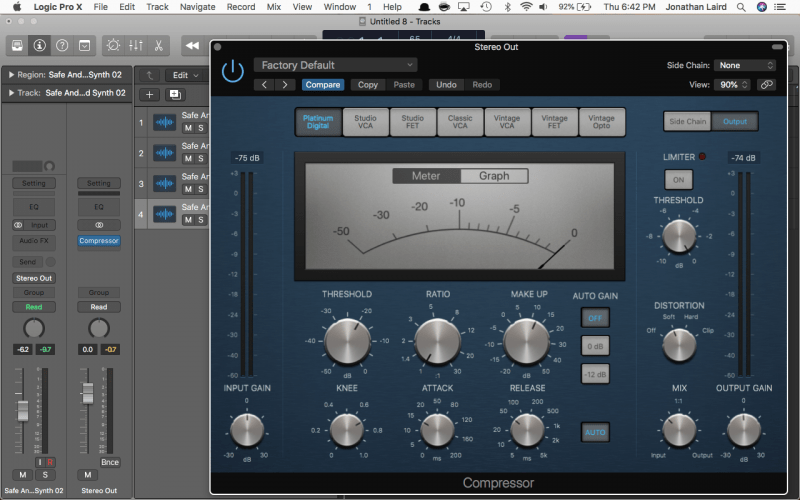 logic default compressor