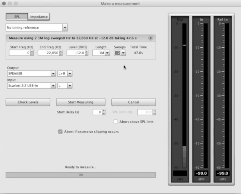 measuring the room in room eq wizard