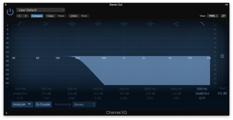 low pass filter eq