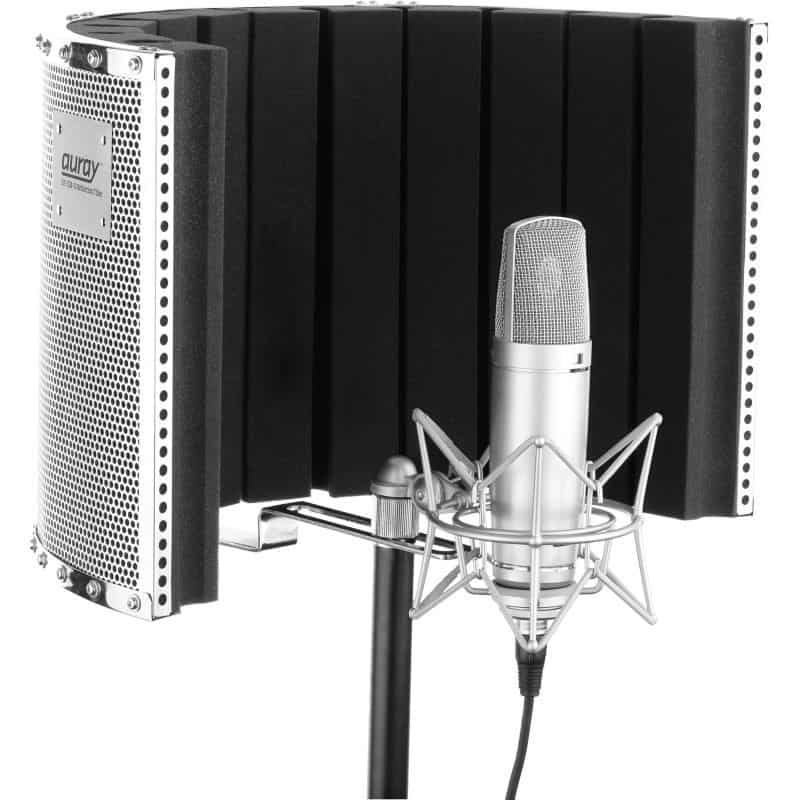 condenser microphone with a reflection panel