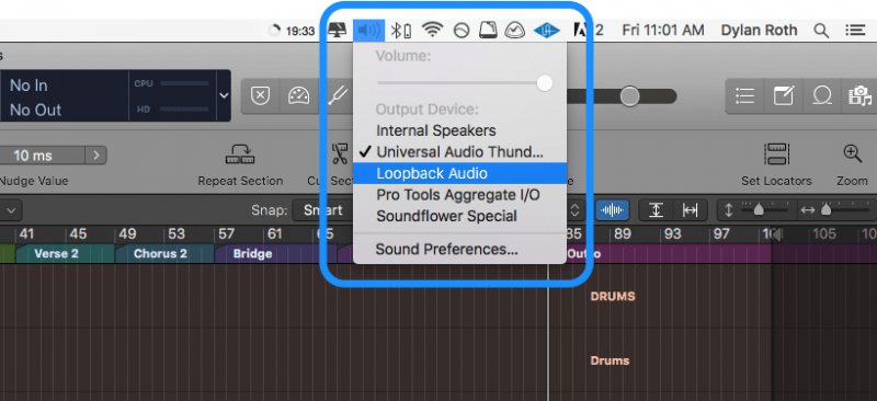 setting loopback audio as the input in your DAW