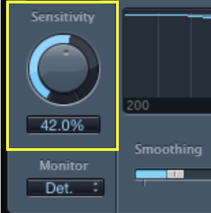 de-esser sensitivity knob