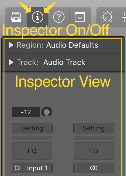 turning on the inspector window