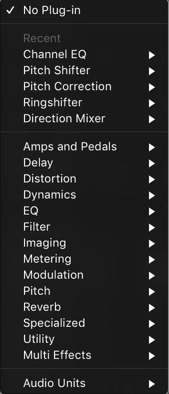plugin menu
