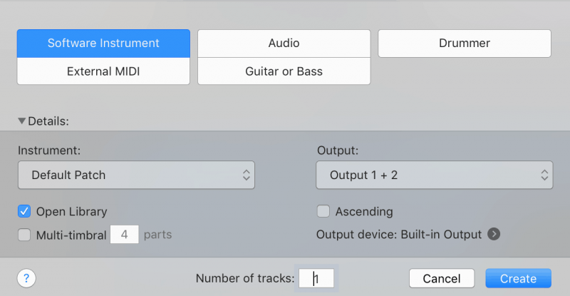 creating a software instrument