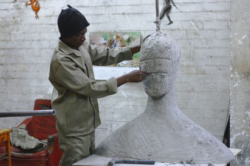 a sculptor creating a human face out of clay, similar to a sound designer subtracting frequencies from a synth