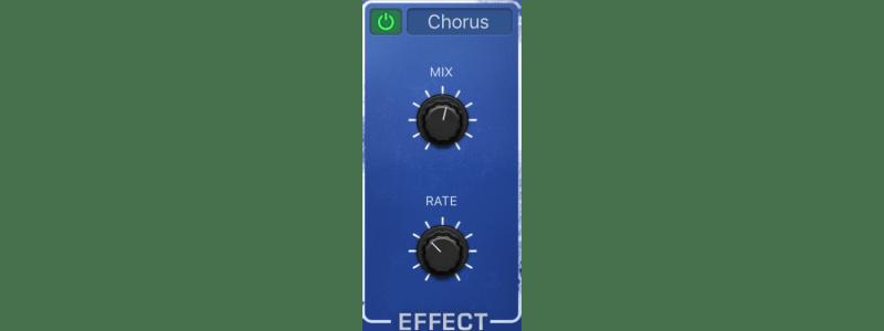 retrosynth chorus effect