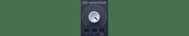 massive wavetable position knob