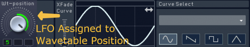 assigning an lfo to modulate wavetable position