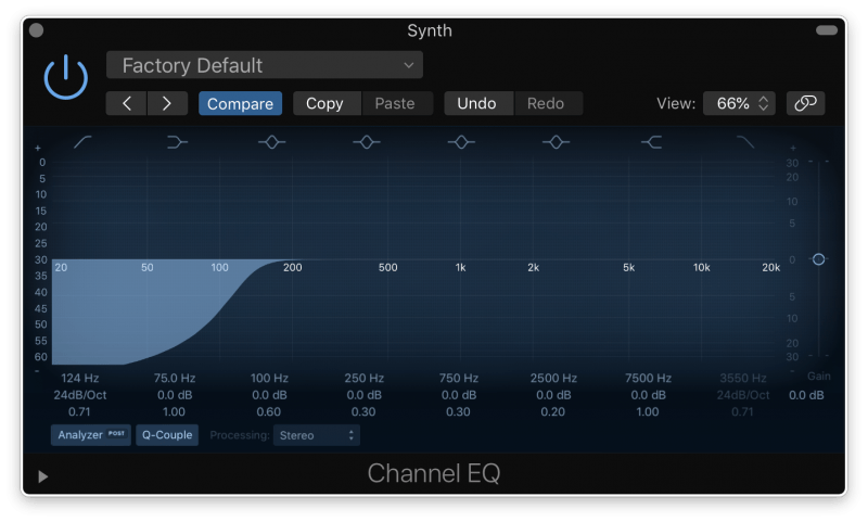 eq high pass filter