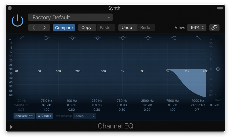 eq low pass filter