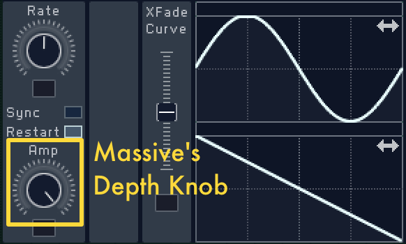 Massive lfo depth knob