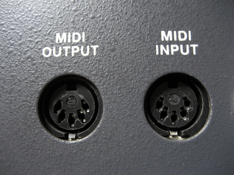 midi input and output ports